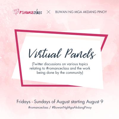#romanceclass Virtual Panels for Buwan ng Mga Akdang Pinoy